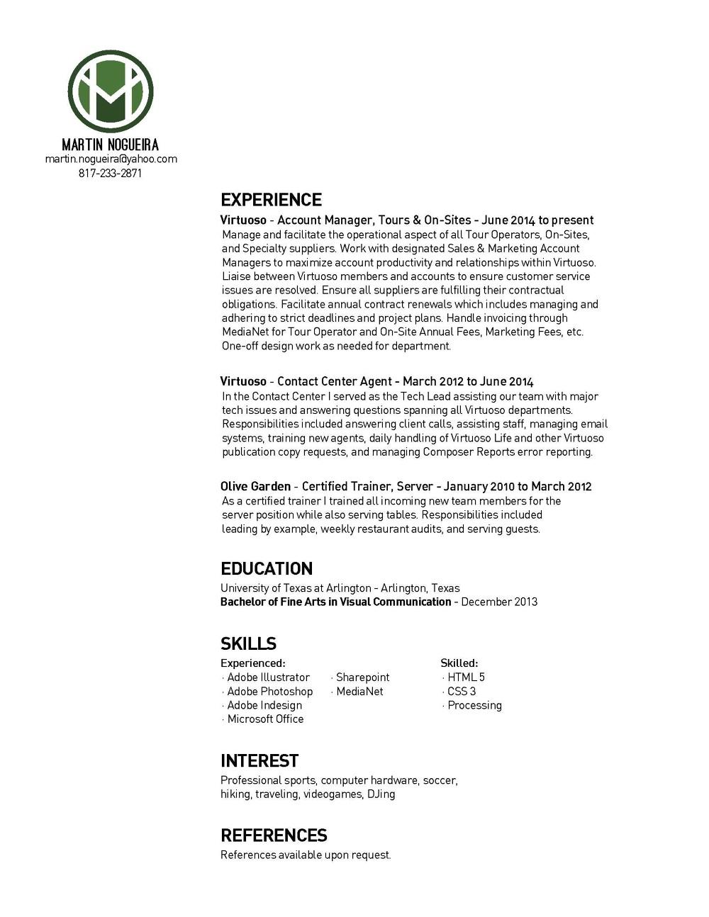 sports agent resume